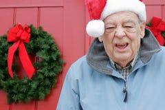 欢呼节假日圣诞老人前辈 库存图片