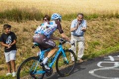 欢呼骑自行车者-环法自行车赛2017年 库存图片