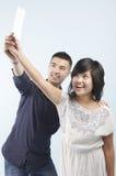 欢欣的夫妇 免版税图库摄影