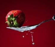 欢欣草莓 库存图片