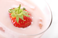 欢欣草莓 免版税图库摄影