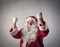 欢腾的圣诞老人 库存图片