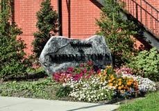 欢迎光临Middletown,宾夕法尼亚岩石 免版税库存图片