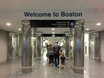 欢迎光临波士顿 库存照片