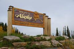 欢迎光临阿拉斯加 免版税库存图片