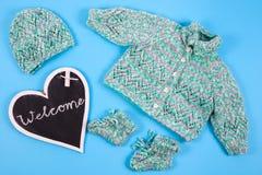 欢迎到一个新出生的婴孩 免版税库存照片