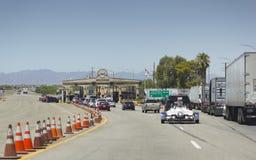 欢迎到农业控制, Blyth,加州 免版税库存照片