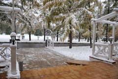 欢迎到冬天 库存图片