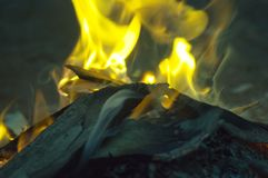 欢迎到国家营火, Wilpena磅手段, SA,澳大利亚 免版税库存照片