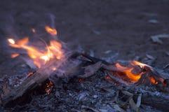 欢迎到国家营火, Wilpena磅手段, SA,澳大利亚 免版税图库摄影