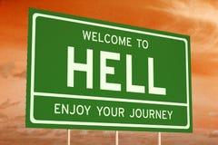 欢迎到地狱概念 库存照片