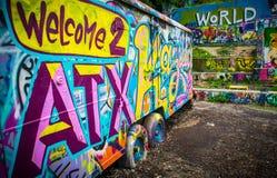 欢迎到奥斯汀得克萨斯美国世界音乐资本 库存图片
