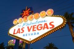 欢迎到拉斯维加斯标志,拉斯维加斯, NV 免版税库存图片