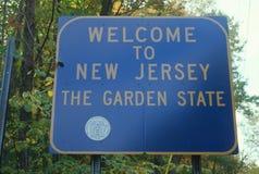 欢迎到新泽西符号 库存图片