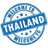 欢迎到泰国传染媒介邮票 免版税库存图片