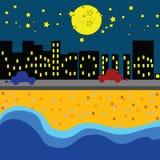 欢迎到海的夜 免版税库存图片