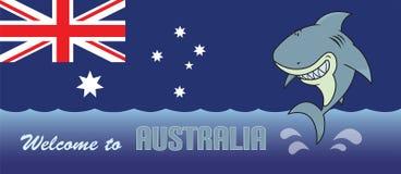 欢迎到澳大利亚卡片例证 免版税库存图片