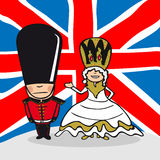 欢迎到英国人 皇族释放例证