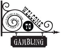 欢迎到赌博 库存例证