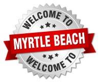 欢迎到默特尔海滩徽章 库存照片