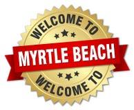 欢迎到默特尔海滩徽章 图库摄影