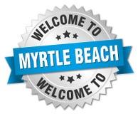 欢迎到默特尔海滩徽章 免版税库存图片