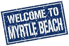 欢迎到默特尔海滩邮票 皇族释放例证