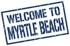 欢迎到默特尔海滩邮票 库存照片
