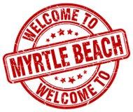 欢迎到默特尔海滩邮票 向量例证