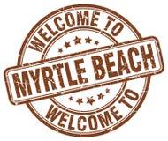 欢迎到默特尔海滩邮票 免版税库存图片