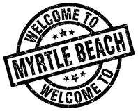 欢迎到默特尔海滩邮票 图库摄影