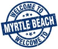 欢迎到默特尔海滩邮票 库存图片