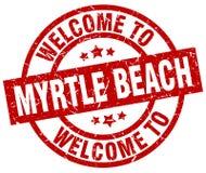 欢迎到默特尔海滩邮票 免版税图库摄影