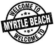 欢迎到默特尔海滩邮票 库存例证