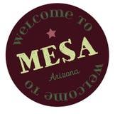 欢迎到Mesa亚利桑那 向量例证