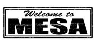 欢迎到Mesa 库存例证