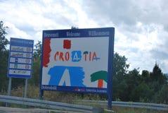 欢迎在克罗地亚 库存照片