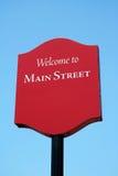 欢迎的主要符号街道 免版税图库摄影