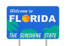 欢迎的佛罗里达 免版税库存图片