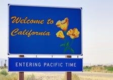 欢迎的加利福尼亚 库存图片