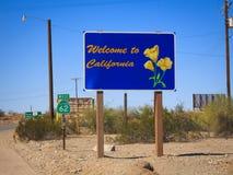 欢迎的加利福尼亚 库存照片