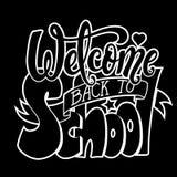 欢迎的回到学校 库存图片