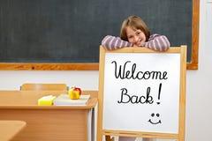 欢迎的回到董事会学校 免版税库存照片