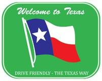欢迎的得克萨斯 向量例证