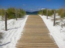 欢迎的海滩 免版税库存照片
