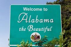 欢迎的阿拉巴马 库存照片