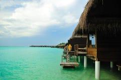 欢迎的马尔代夫天堂 库存照片