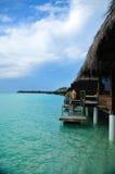 欢迎的马尔代夫天堂 免版税库存照片
