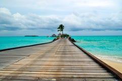 欢迎的马尔代夫天堂 库存图片
