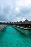欢迎的马尔代夫天堂 免版税库存图片